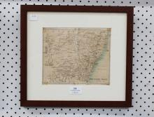John Bartholomew & Co, map of New South Wales, approx 20cm x 17cm