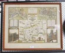 Middlesex - Speed (John) - Midle-sex described with the most famous Cities of London and Westminster, 1st issue, with inset plans and views of St Paul s and Westminster Abbey, engraved map with hand-colouring, approx 38cm x 52cm
