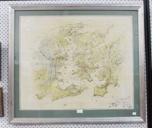 Map of Sydney Harbour, approx 62cm x 75cm