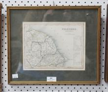 Yorkshire map, approx 19cm x 25cm