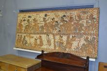 Large Balinese painting purchased in the 1970's, approx 185 x 85cm