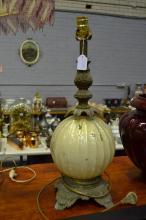Lamp base, globe form, approx 55cm H