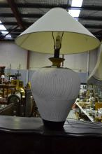 1980's lamp with shade, approx 90cm H