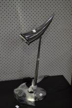 Philipe Starck chrome table lamp, original, approx 57cm H