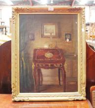 English horse picture, gilt frame approx 58cm x 43cm