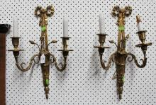 Pair of French wall lamps, approx 50cm L each (2)