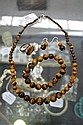 Tiger eye necklace, bracelet, ring and earrings
