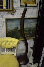 Large stylish curved form standard lamp, approx 150cm H