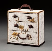 A FINE JAPANESE DECORATED LACQUERED CABINET
