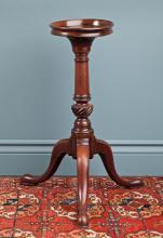 A GEORGE III MAHOGANY WINE TABLE