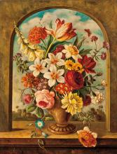 A PAIR OF 19TH CENTURY FLORAL STUDIES