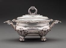 GEORGE III SILVER TUREEN WITH CANADIAN IMPORTANCE