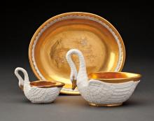 A GROUP OF 3 19TH CENTURY SEVRES PROCELAIN ITEMS