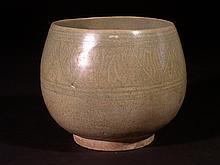 15th Century Sawankhaloke Deep Stoneware Bowl