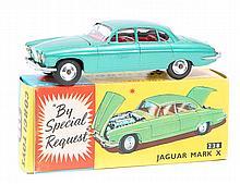 Corgi Toys Jaguar MkX (238). An example in metalli
