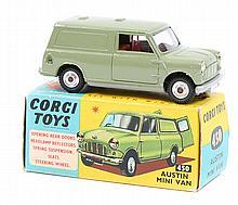 Corgi Toys Austin Mini Van (450). In metallic gree
