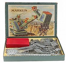 A Marklin Meccano style construction set. A small