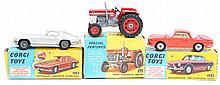 3 Corgi Toys. Massey-Ferguson 165 Tractor (66). In