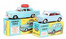 2 Corgi Toys. Morris Mini-Minor (226). In lilac wi