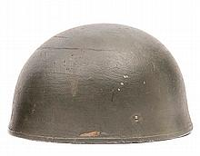 A WWII British Airborne Troops steel helmet,with f