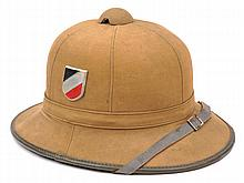 A Third Reich Afrika Korps tan canvas covered pith