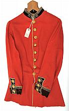 A Vic Lieutenant's full dress scarlet tunic of the