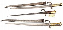 2 Chassepot bayonets, d 1872, in scabbards (some w