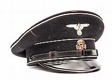 A scarce Third Reich SS man's peaked service cap,