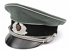 A Third Reich Army officer's type peaked cap, with