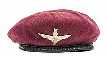 A scarce WWII maroon beret of The Parachute Regt,W