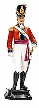 """A Royal Worcester painted figure """"Officer of the Coldstream Guards 1815"""",in"""