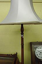 20TH CENTURY CARVED BEECH LAMP STANDARD AND SHADE