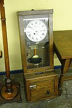 GLEDHILL BROOK TIME RECORDER IN OAK CASE PENDULUM
