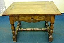 18TH CENTURY FRENCH PROVINCIAL ELM CENTRE TABLE