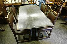 20TH CENTURY OAK PLANK TOP REFRECTORY TABLE OF