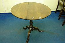 GEORGE III MAHOGANY TILT TOP TRIPOD TABLE WITH