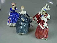 Four Royal Doulton Figurines 'Mary', 'Gail',
