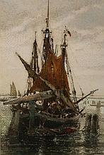 Clara Montalba (1842-1929), On the lagoon, Venice, signed and dated '81 lower right, watercolour, framed. 29.5cm by 19.5cm