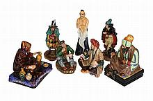 A group of seven Royal Doulton figures, comprising