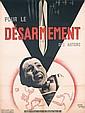 Famous Original 1930s JEAN CARLU DISARMAMENT Poster