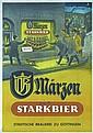 Lot of 3 German 1950s Beer Posters Maerzen Plakat