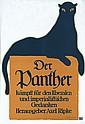 RARE Original 1910s Lucian Bernhard PANTHER Poster