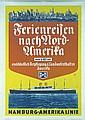 Original 1930s HAPAG North America Travel Poster