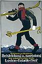 Original 1910s German Ski Travel Poster HEMEL Art