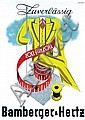 Original 1930s Bamberger Fashion Poster Plakat