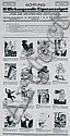 RARE Original 1940s Advertising Poster with 16 Drawings