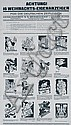 RARE Original 1940s Xmas Ad Poster with 16 Drawings