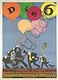 Original 1910s PREETORIUS Art Die Sechs Poster Plakat