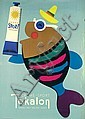 Original 1940s Tokalon Swiss Design Poster LEUPIN Art