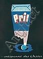 Original 1950s LEUPIN Pril Swiss Design Poster
